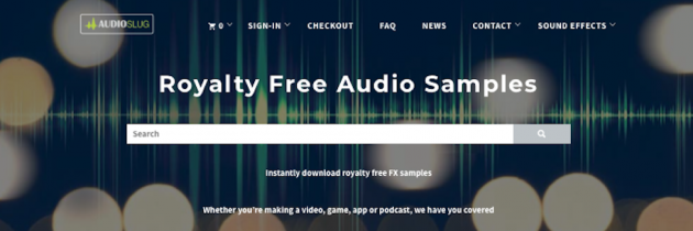 Royalty Free Audio Samples – Audioslug