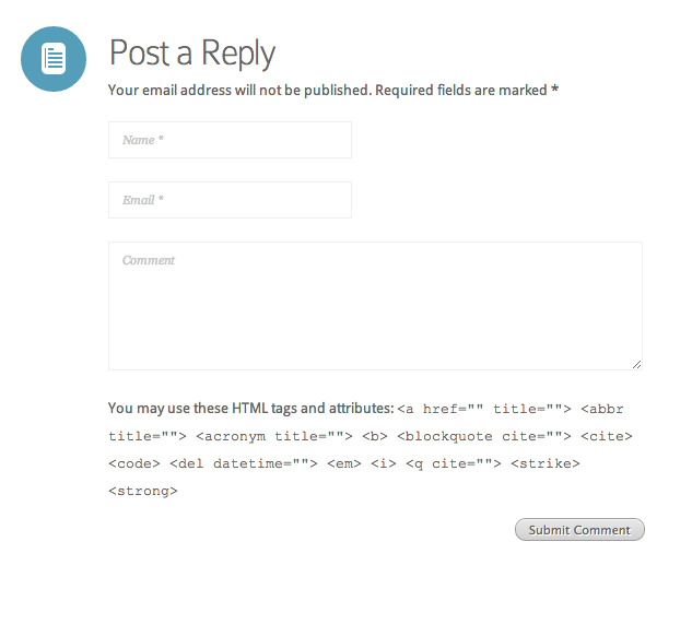 Wordpress comments form with URL field removed